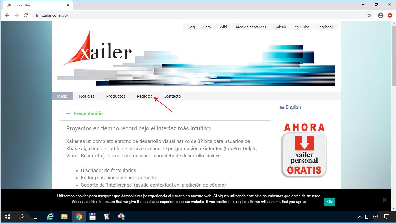 Cómo realizar el pedido en la página web de Xailer